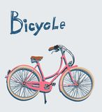 Vintage bicycle. Vector illustration. Stock Photography