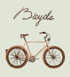 Vintage bicycle. Vector illustration. Royalty Free Stock Images