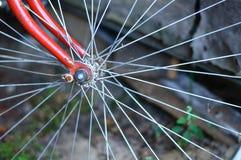 Vintage bicycle wheel Stock Images