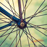 Vintage bicycle. Wheel - vintage filter Royalty Free Stock Photography