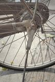 Vintage bicycle wheel Royalty Free Stock Images