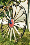 Vintage - Bicycle Wheel With Spokes Of Hammers Royalty Free Stock Photography