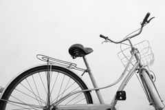 Vintage bicycle white background Stock Image