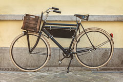 Vintage bicycle with wooden crate Stock Images