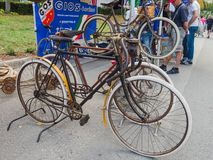 Vintage bicycles on display at L'Eroica, Italy Royalty Free Stock Photography