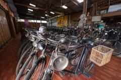 Vintage bicycles on display Stock Images