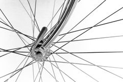 Vintage bicycles front hub Royalty Free Stock Images