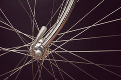 Vintage bicycles front hub Stock Photo
