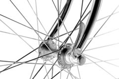 Vintage bicycles front hub Stock Photos