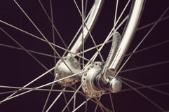 Vintage bicycles front hub Stock Image