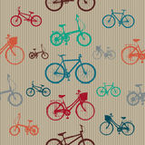 Vintage Bicycles Seamless Pattern Stock Image