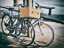 Vintage bicycles Royalty Free Stock Photos
