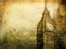 Vintage Big Ben Stock Photos