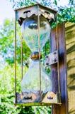 Vintage big hourglass, color, vertical Stock Images