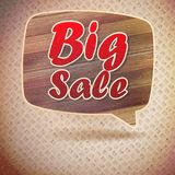 Vintage Big Sale speech bubbles from wood. Royalty Free Stock Image