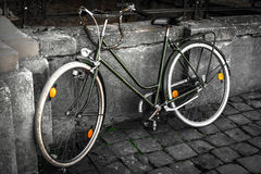Vintage Bike. Close up, partially desaturated Stock Photo