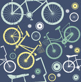 Vintage bike elements seamless pattern Royalty Free Stock Photos