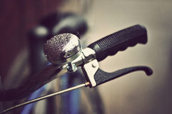 Vintage bike handlebars Royalty Free Stock Photos