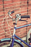 Vintage bike handlebars Stock Photography