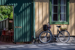 Vintage bike on the Old Main Street Royalty Free Stock Photography