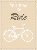 Vintage bike retro illustration Royalty Free Stock Photos