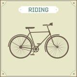 Vintage bike retro illustration Stock Image