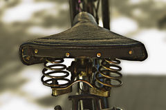 Vintage bike saddle Royalty Free Stock Photos