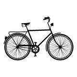 Vintage Bike silhouette isolated bicycle Royalty Free Stock Images