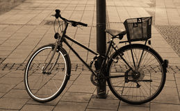 Vintage bike on street Royalty Free Stock Photography