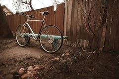 Vintage bike on the street photo Royalty Free Stock Photo