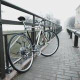 Vintage bike on the street photo Royalty Free Stock Image