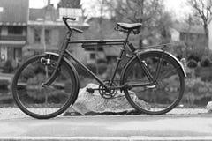 Vintage Bike. Swiss old bike on street Royalty Free Stock Image