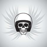 Vintage Biker Skull with Helmet and Wings. Design Royalty Free Stock Photography