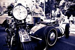 Vintage bikes at Bergamo Historic Grand Prix 2017 Royalty Free Stock Photography