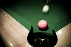 Vintage billard Stock Photo