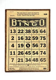 Vintage Bingo Card Stock Photo