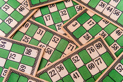 Vintage Bingo Card Background Royalty Free Stock Photography