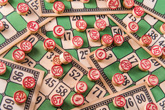 Vintage Bingo Card Background Stock Photos