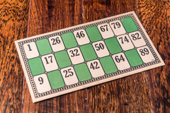 Vintage Bingo Card Royalty Free Stock Photo