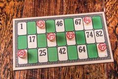 Vintage Bingo Card Royalty Free Stock Photos