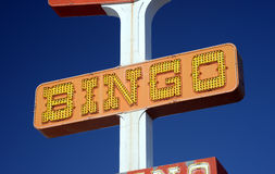 Vintage bingo sign Royalty Free Stock Images