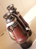 Vintage Binocular. With leather grip and strap Stock Photos
