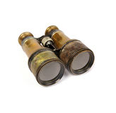 Vintage Binoculars. A pair of vintage binoculars isolated on a white background Royalty Free Stock Images