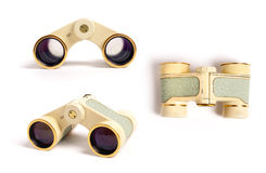 Vintage binoculars Stock Photo