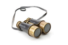 Vintage binoculars isolated on white background Stock Photos