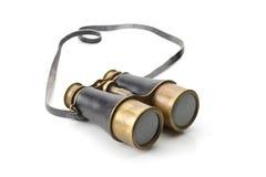 Vintage binoculars isolated on white background Stock Photos