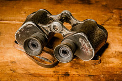 Vintage binoculars Stock Photography