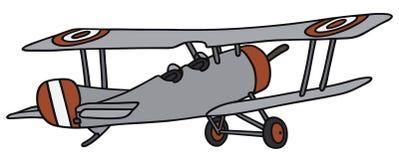 Vintage biplane Royalty Free Stock Image