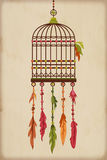 Vintage Bird Cage Stock Image