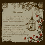 Vintage Bird Cage Royalty Free Stock Photography